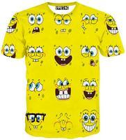 2015 Newest Style 3D Emoji T Shirt Both Side Printed T-Shirts Casual Short Sleeve TShirts Clothing