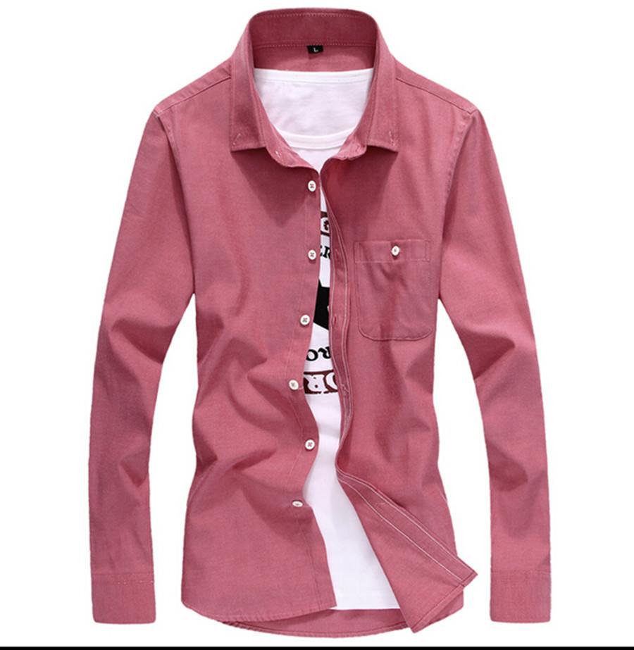 Novo grátis frete 11 cores Top Quality Plus Size M-5XL Mens Shirt longo da luva dos homens camisas de vestido sólida Camisa Masculina Social ,(China (Mainland))