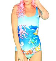 Female Swimwears Women Underthesea Digital Printing Beach Wear Bopdysuit One Piece Sexy Swimsuit Digital Printing Drop Ship