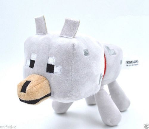23cm Minecraft Toys High Quality Plush Dolls Wolf Soft Toys For Kids Christmas Gifts 78635(China (Mainland))