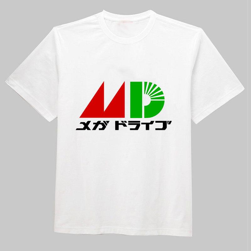 Free Shipping Megadrive Sega Japan Retro Video Game O Neck Cotton Short Sleeve Cool Camiseta Men Camisetas Gym T Shirt, Unisex(China (Mainland))