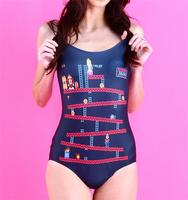 Female Swimwears Women Donkey Kong Swim Beach Wear Bopdysuit One Piece Thin Printed Sexy Swimsuit Digital Printing Drop Ship