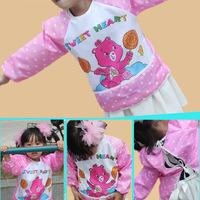 2015 new flower lollipop baby feeding anti-wear gowns baby cartoons dirty dinner suit-proof 2-4