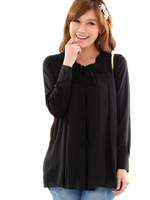 2015 Spring Summer Fat Women Loose Casual Comfortable Chiffon  Shirts,long-sleeve expansion bottom Blouses f-4XL