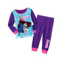2014 New Design fantasia movie costume Girls  Pajamas Baby Anna Pijamas Pyjamas Children Clothing sets Kids Sleepwears