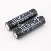 2 Pcs 3.7V 6000mAh 18650 Li-ion Rechargeable Battery for Flashlight DropShippingz