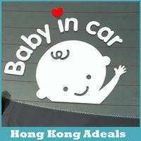 Reflective Car Styling Baby In Car Cute Warning Car Sticker Motorcycle Sticker Free Shipping