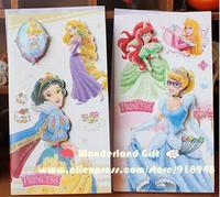 10pcs 3D princesses greeting cards,Snow white/Belle/Cinderella/Aurora Rapunzel princess lovely cards for party friends girls
