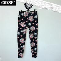 New 2014  Winter  Simple Slim Size Print  Women Leggings Korean  Style  Free Shipping L3127