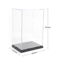 "Self-Assembly Acrylic Plastic Display Box Showcase Protection  6.43x4.88x9.56"" figure model Case Doll Dollhouse"