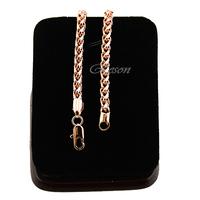 1pcs 5mm or 7mm Men Women 18K Rose Gold Filled Wheat Bracelet Chain Jewelry E344