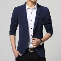 Spring fashion Man pure cotton slim fit business suit coat Men's leisure Blazers slim fit casual suit coat jackets FreeShipping