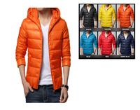 FREE SHIPPING Casual Dress Men Winter Jacket Big Size 4xl White Duck Down Coat Parkas Jacket Male Color Dress Thin Sport Jacket