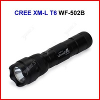 ( 20 pcs/lot ) UltraFire WF-502B LED Torch 1200 Lumens CREE XM-L T6 LED Waterproof Bicycle Camp Flashlight Lamp 5 Modes