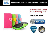 Original Flip Wallet Leather Case Cover For Samsung Galaxy S3 MINI I8190 Battery Cover Stand Holder Case Skin For i8190 S3 Mini