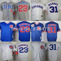 2015 new Chicago Cubs wholesale baseball jersey 31 Greg Maddux jerseys,23 Ryne Sandberg Jersey, top Quality Embroidery Logos