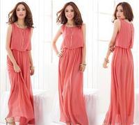 2015 explosion models wholesale trade Women yards long section chiffon dress bohemian dress beach dress women