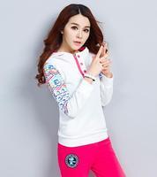 Women casual sweatshirts new fashion Sport Suit long sleeve tracksuit Female hoodies Costume Sportswear 2 piece suit 99
