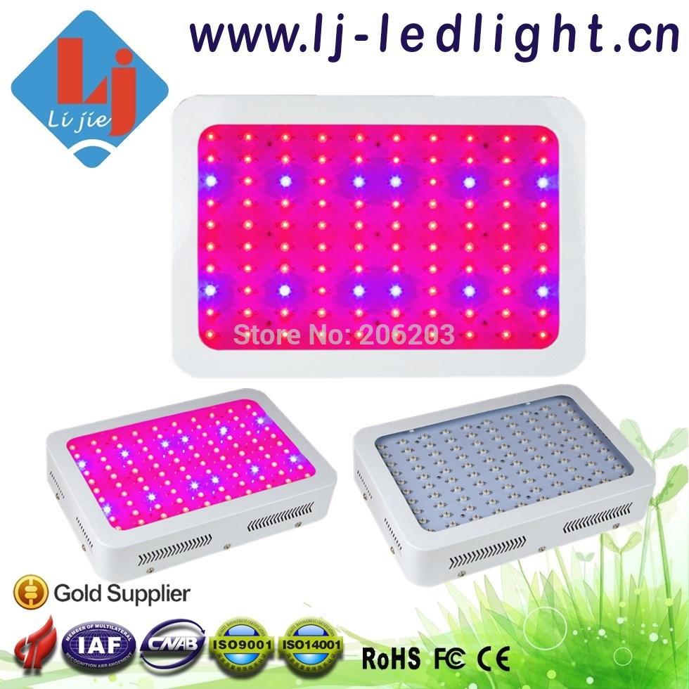 De poupança de energia 300 W levou crescer espectro completo de luz 100 * 3 W 8 Band para Medical plantas plantas herbáceas vermelho / laranja / azul / UV / IR / branco(China (Mainland))