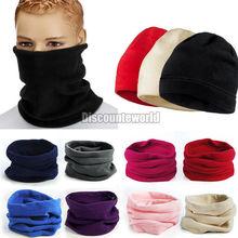 10 X унисекс мужские женщины тепловой теплый флис Snood шарф грелки шеи шапочка лыж балаклава Hat 9 цвет