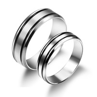 OPK Classical Lovers' Wedding Rings Fashion New 2015 Full Steel Women Men Bands Jewelry Cheap Price 452