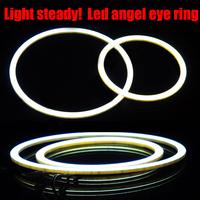 2015 new 105mm 1set Waterproof led cob angel eyes  Daytime Running Light DRL car Auto Headlight lighting car Chip super bright