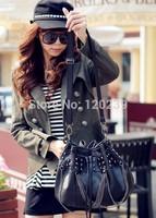 2015 RAXH Black skull Rivet Chains single-shoulder bag European and American style women bag