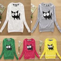2015 autumn winter fashion casual cartoon print pullover sweatshirts women top animal hoodies tracksuit Wholesale