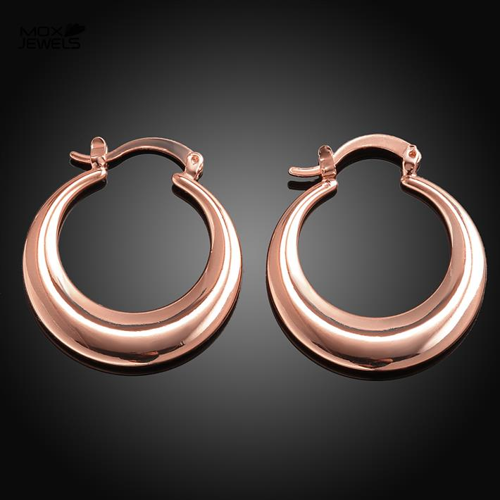 E153-B wholesale fashion brand 18k rose gold plated jewelry 2.7x2.7cm new brincos earing women round small hoop earring(China (Mainland))