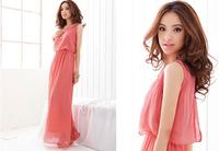 Long section chiffon dress bohemian dress beach dress high quality version