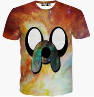 [Alice]free ship 2015 Cartoon big Nose Dog popular design 3d t shirt men/women short sleeve round neck summer t-shirt casual t