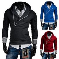 New Fashion Arrival 2015 Long Sleeve Design Hooldies Coat 6 Colors  Hooded Fleece Men's Outwear Best Price Size M-XXL PW69