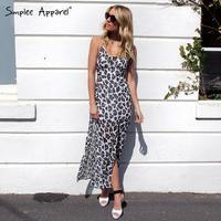 2015 vestidos femininos Leopard print chiffon Flowy dress Hollow out back maxi sexy desigual dress for holiday
