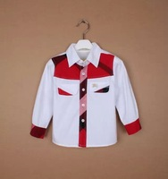 3690 Retail Newest 2015 Cotton brand Baby boy shirt children shirts Kids Clothing Baby Costumes 5colors