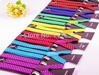 Free Shipping+Wholesale Adult Dot Suspender Brace Adjustable Clip-on Elastic Suspender Belts Strap,100pcs/lot