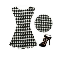 2015 Summer New Women Fashion Plaid Short Sleeve O-Neck Casual Desses Female Leisure Design Mini Dress Plus 3 Sizes