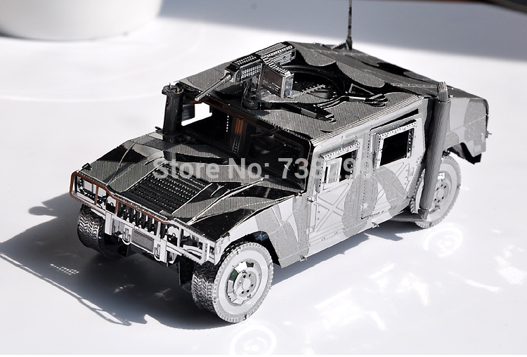3D Model Building Kits American Hummer Car 3D Hummer Car Metal Model Puzzle 1:48 Scale Solid Jigsaw Puzzle for Children / Adults(China (Mainland))