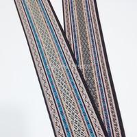 3.6yards 3.3meters 5cm 50mm 2 Amarica Floral national jacquard woven ribbon laciness webbing curtain terylene trim border orange