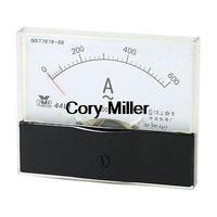 44L1 AC 0 -600A 10cm x 8cm Plastic Case Vertical Mounted Analog Ammeter Gauge