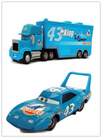 Free Shipping cars 2 Toys Diecast #43 THE KING Hauler Mack cars plastic truck Car Toy Set  2 Hauler Metal Car Toy Loose In Stock