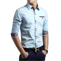 Big Yard M~5XL 2015 Hot Sale New Spring Men Business Casual shirt Fashion Sample All-match Long Sleeve Slim dress Shirts men