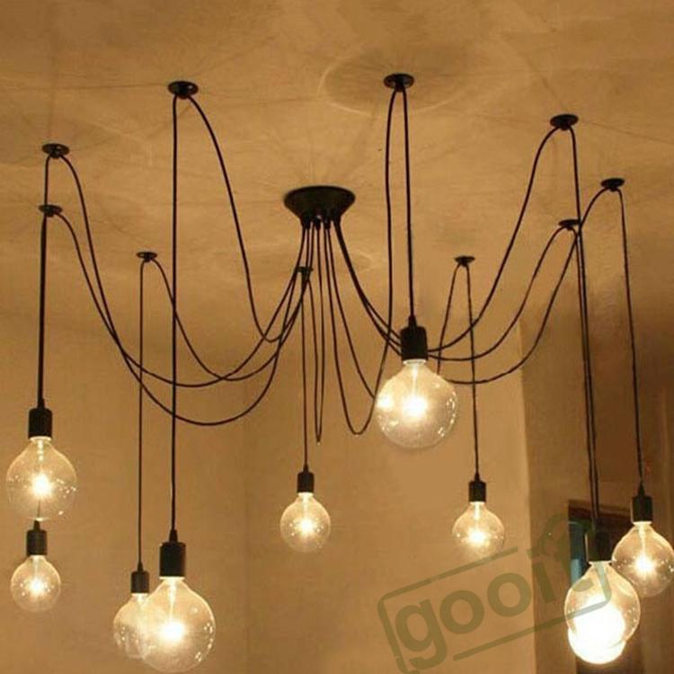 Online cheap wholesale modern crystal chandelier wall light edison retro spider chandelier lighting ceiling pendant 10 lights 110 220v e27 st64 g95 led crystal living lamps mozeypictures Images