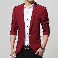Men fashion Business Blazer coat Male slim fit Jacket casual Suit Blazers Coat one Button slim leisure suit jacket  FreeShipping