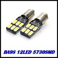2015 NEWS !! Free shipping 50PCS/lot Car Auto LED ba9s 194 W5W Canbus 12smd 5630 5730 LED Light Bulb No error led light