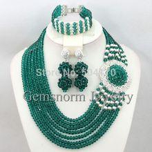 African Beads Crystal Jewelry Set 2015 Wedding Jewelry Sets Rhinestone Beads Set Free Shipping GS967