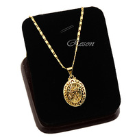 1pcs Small Men Women Classic 18K Yellow Gold Filled Symbol Pendants+ Short Choker Necklace