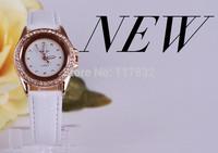 Fashion korean women watch quartz leather band watches girl wristwatch ladies clock female relogio Rhinestone design