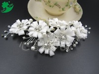 Bride headdress Korean pretty ladies hand with drill married hair frontlet pearl bridal accessories