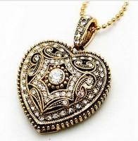 4GB 8GB Fashion Jewelry Crystal  Retro Heart  Bead Chian Necklace model  2.0 usb flash drive memory pendrive