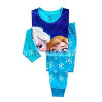 2014 New Design 2~7Yrs  Suits Girls Pajamas Baby Elsa Anna Pijamas Pyjamas Children Clothing sets Kids Sleepwears